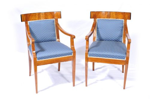 Paar Armelehnstühle, Biedermeier um 1810 / 1815