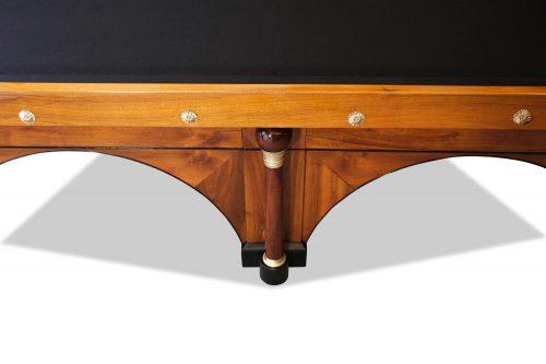 Carambolage/ Billard-Tisch Frankreich um 1800/ 1810 Nussbaum Holz Messingapplikationen völlig originaler Zustand, Original englisches Tuch