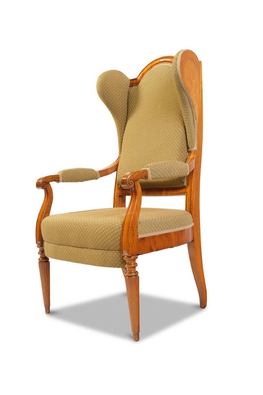 Ohrenbacken-Sessel Süddeutschland um 1840/ 1850