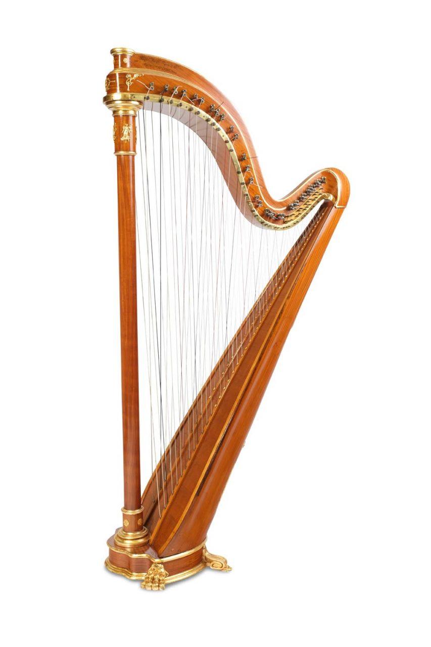 Chromatische Doppel-Harfe No. 579 aus der Werkstatt Pleyel Wolff Lyon Die Pleyel-Harfe, auch Lyon-Harfe, französisch auch harpe chromatique,