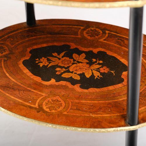 Tisch oval / Etagere Frankreich um 1880