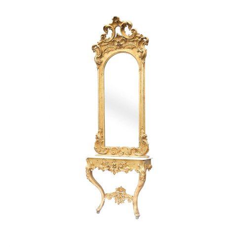 Antiker Spiegel mit Konsole